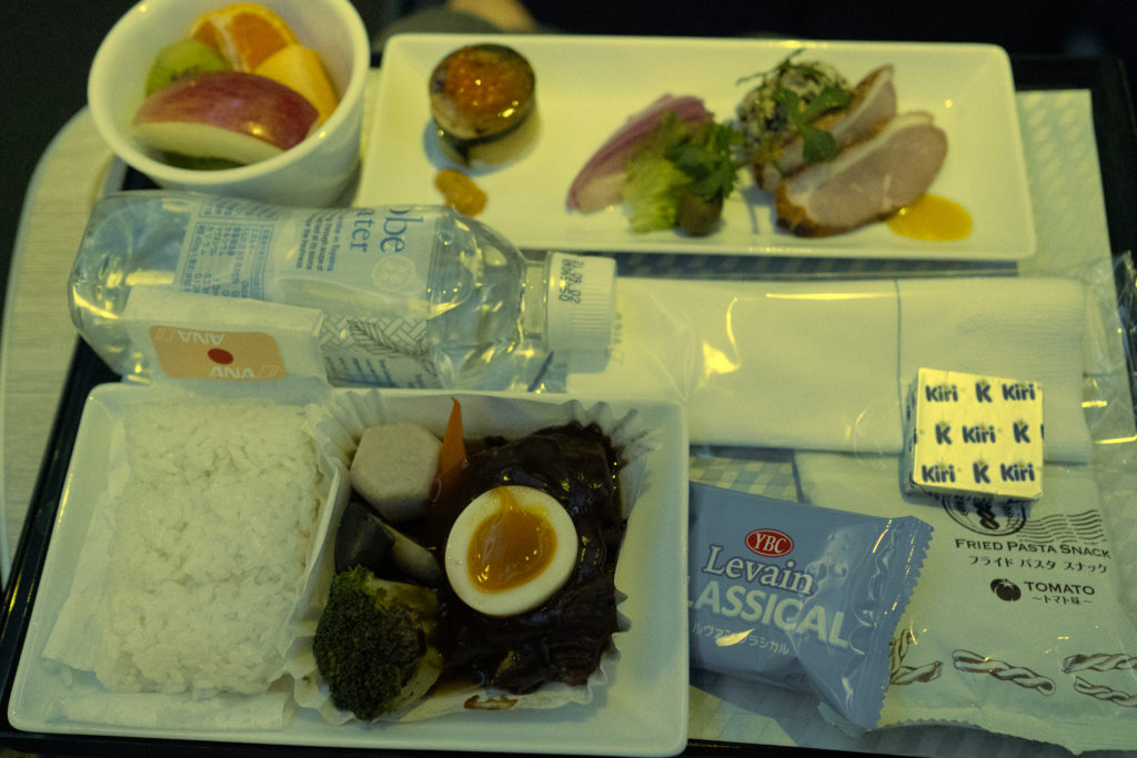 ANA ホノルル線 プレミアムエコノミー 機内食