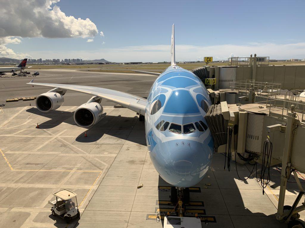 ANAラウンジ ダニエル・K・イノウエ国際空港 フライングホヌ(A380)