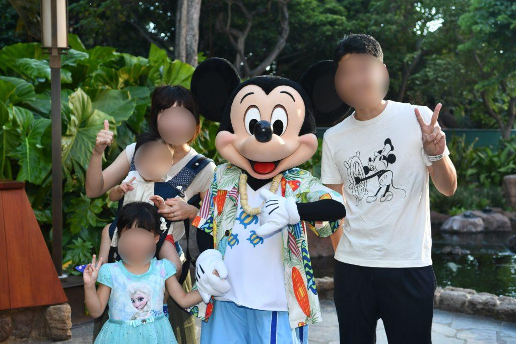 アウラニ・ディズニー マカヒキ キャラクターブレックファースト ミッキー 撮影3