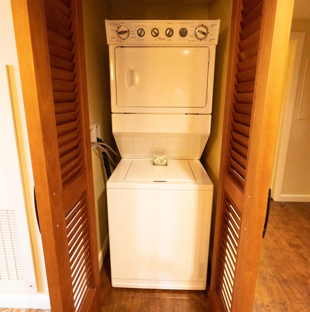アウラニ 2ベッドルームヴィラ・オーシャンビュー 洗濯機
