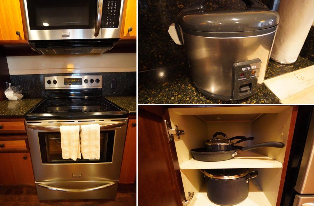 アウラニ 2ベッドルームヴィラ・オーシャンビュー キッチン(調理器具)