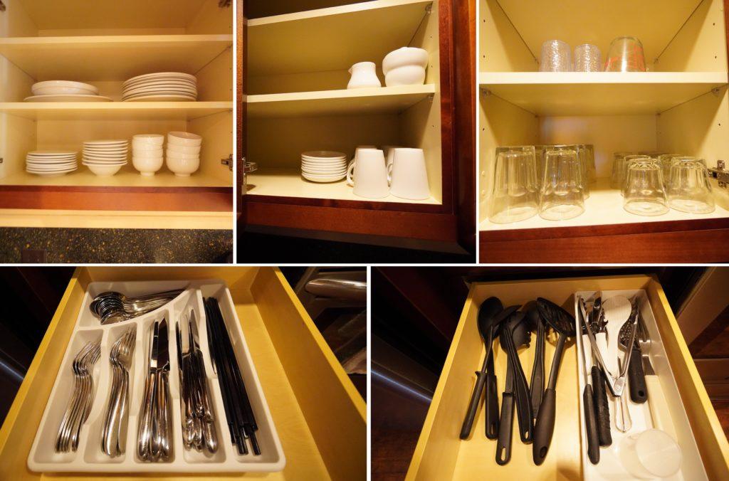 アウラニ 2ベッドルームヴィラ・オーシャンビュー キッチン(食器)
