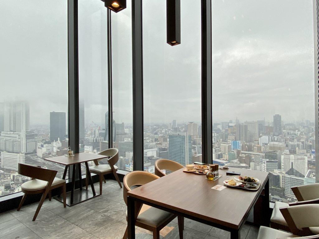 名古屋プリンスホテル スカイタワー 朝食(眺望)