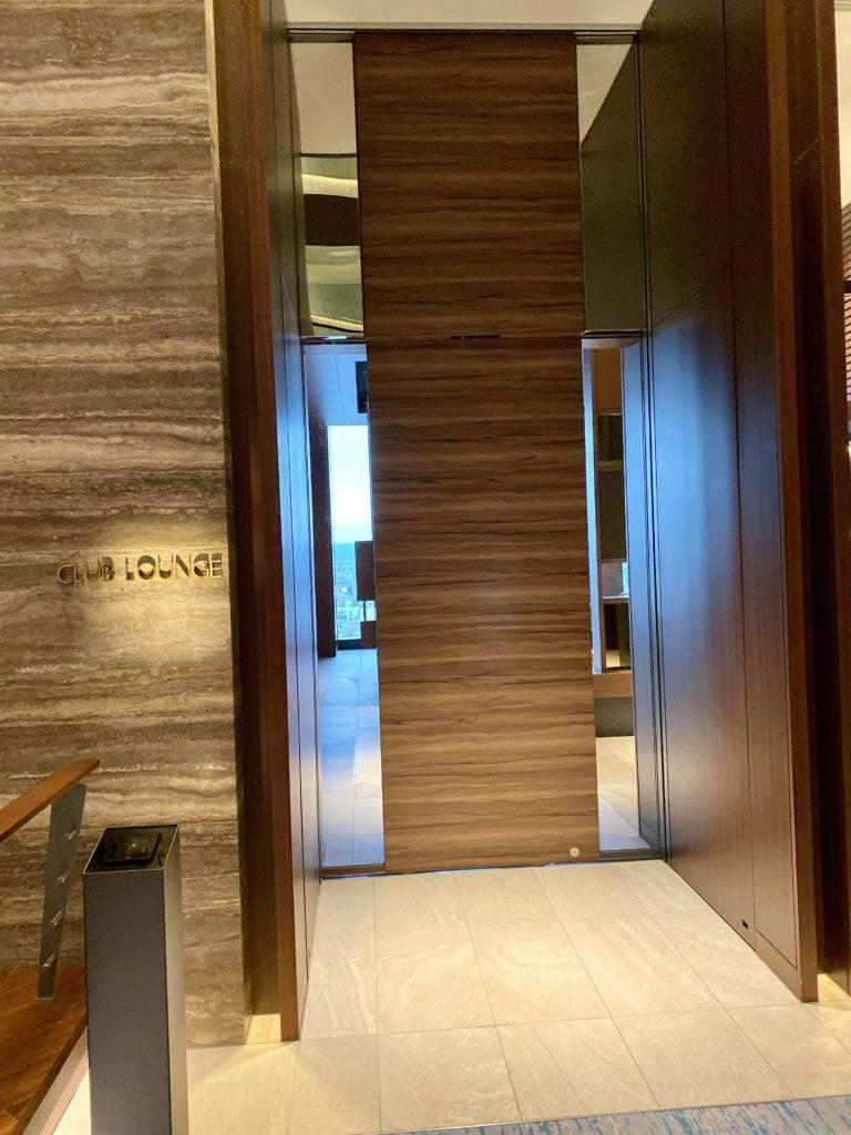 名古屋プリンスホテル スカイタワーのクラブラウンジ入口