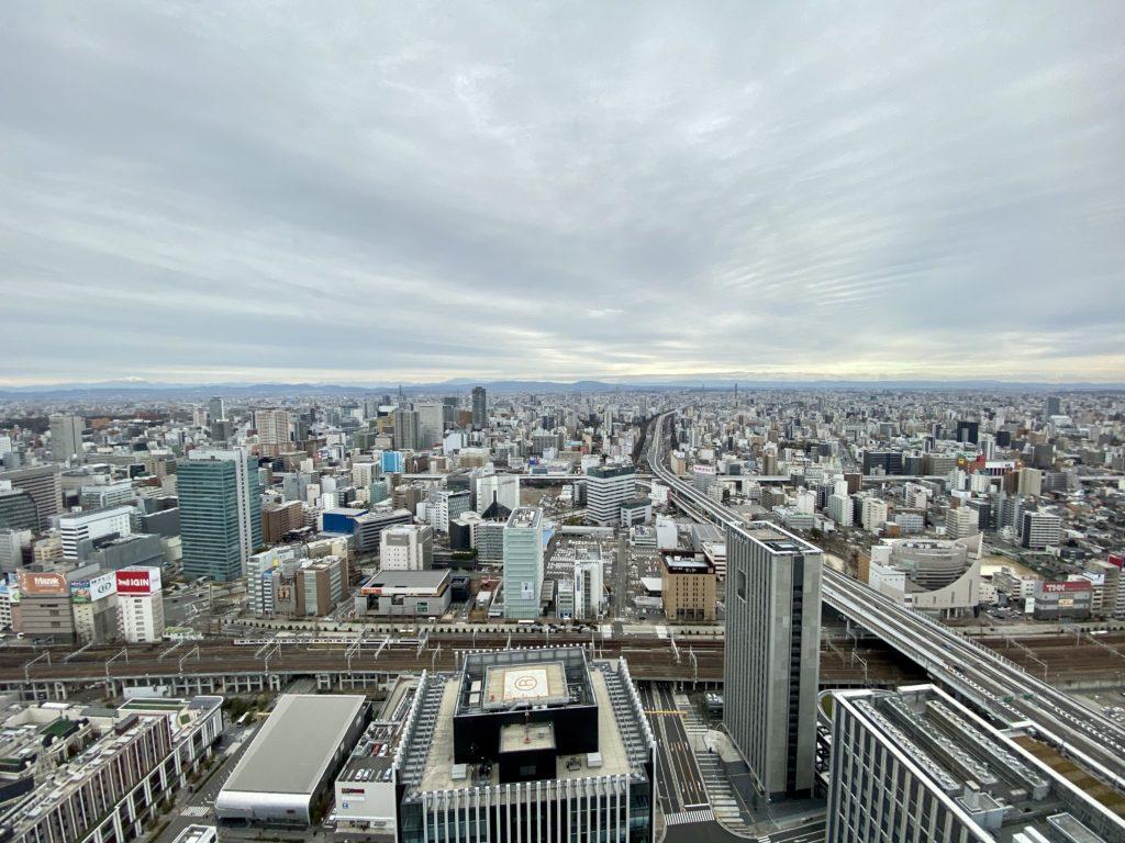 名古屋プリンスホテル スカイタワー の部屋からの眺望